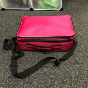 LipSense/Makeup Carry Bag pink and black